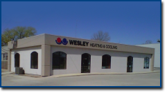 Visit Wesley Heating & Cooling's office building in Green Bay, WI