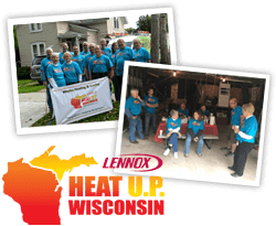 The team at Wesley Heating & Cooling loves to serve the Green Bay area with Community Service.